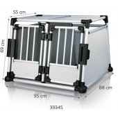 TRANSPORT BOX Aluminum - DOUBLE - 95 × 69 × 88 cm