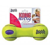 Kong Air Squeaker Dumbbell Geel - in 3 maten