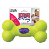 Kong Air Squeaker Bone Geel - in 3 maten