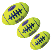 Kong Air Squeaker Football Geel - in 3 maten